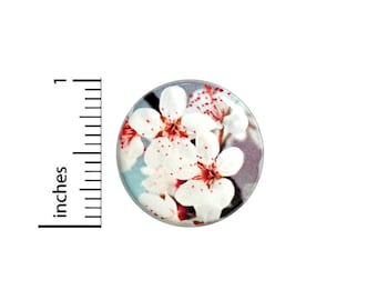 Cherry Blossom Button Pin Pretty Cool Unique Gift Cute Badge Pinback 1 Inch #60-8