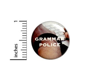 Funny Editor Button Grammar Police Pin For Backpacks Jackets Writer Lapel Pin 1 Inch 1-17