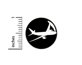Plane Button Pin Cute Vacay Vacation Air Travel Badge for Backpacks or Jackets Cool Pinback Lapel Pin 1 Inch 88-10