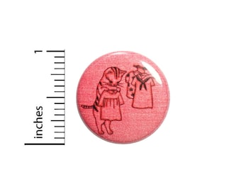 Funny Cat Button Cat Playing Dress-Up Doll Daughter Girl Gift Cute 1 Inch #35-7