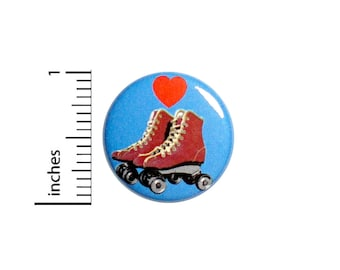 Love Derby I Love Roller Derby Roller Skates Skating Tough Derby Girl Backpack Jacket Pin 1 Inch #78-24