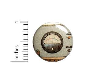 Steampunk Gauge Button //  Backpack or Jacket Lapel Pin // Button Dieselpunk // Pinback 1 Inch 3-26