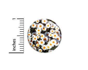 Daisy Button Pin Daisies Rad Pretty Cool Unique Gift Cute Badge Pinback 1 Inch #60-1