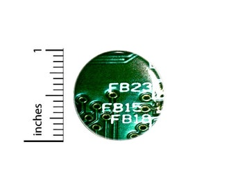 Computer Graphic Button // Cosplay Pin for Backpacks or Jackets // Nerdy Geeky Badge // Pin 1 Inch 4-14