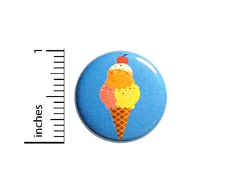Cute Ice Cream Cone Button Pin 1 Inch 85-20