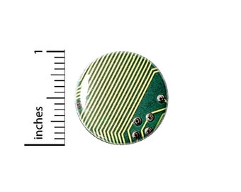 Computer Graphic Button // Cosplay Pin for Backpacks or Jackets // Nerdy Geeky Badge // Pin 1 Inch 3-23