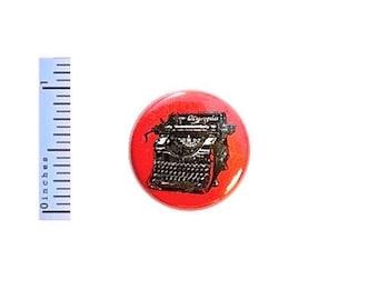Writing Button Vintage Typewriter Nerdy Geekery Button Writer Editor Gift 1 Inch Pin