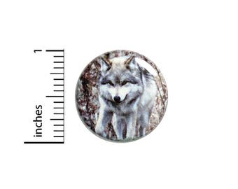 Wolf Forest Nature Button Badge Awesome Backpack Jacket Pin Pinback 1 Inch #50-12 -
