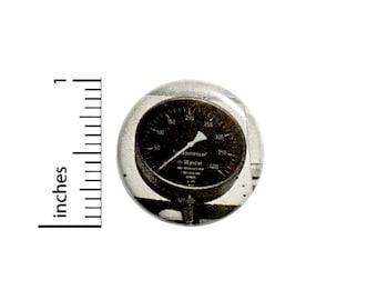 Dieselpunk Speedo Speedometer Button // Backpack or Cosplay Pinback // Steampunk Vintage Gauge Pin // 1 Inch 15-26