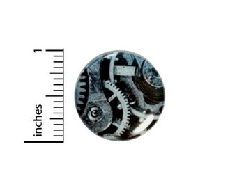 Dieselpunk Gears Button // for Backpack or Jacket Pinback // Cosplay Steampunk Pin // 1 Inch 14-11