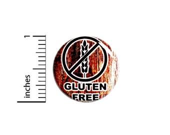 Gluten-Free Button No Gluten Wheat White Flour Backpack Small Allergy Alert Pinback 1 Inch #67-12
