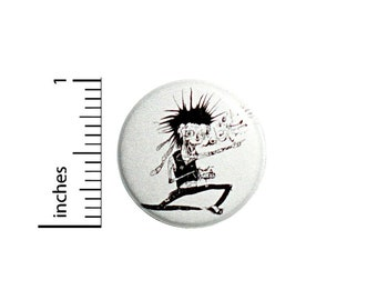 Funny Punk Rock Zombie Button Awesome Cool Jacket or Backpack Pin 1 Inch #37-9