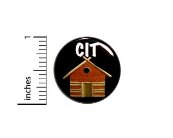 Cute CIT Button Badge Counselor In Training Vest Jacket Pin Pinback Cabin Camping Summer Camp 1 Inch #65-18