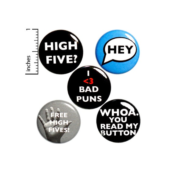 Funny Buttons Jacket Lapel Pins Conversation Starters Pins for Backpacks  Badges Brooches 5 Pack 1 Inch P33-2