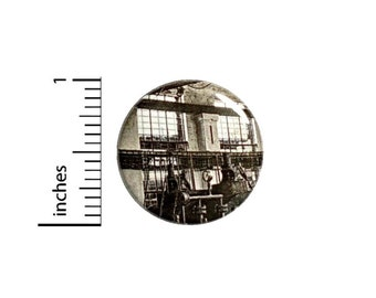 Steampunk Factory Button // Cosplay or Backpack Pinpack // Neo Victorian Pin // 1 Inch 15-23