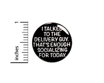 """Funny Introvert Pin Button or Fridge Magnet, Birthday Gift, Backpack Pin, Introvert Gift, Pin, Button Pin or Magnet, 1"""" 87-12"""