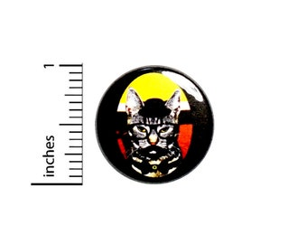 Funny Mustache Geeky Cat In Disguise Button Random Geekery Nerdy Backpack Jacket Pin Pinback 1 Inch