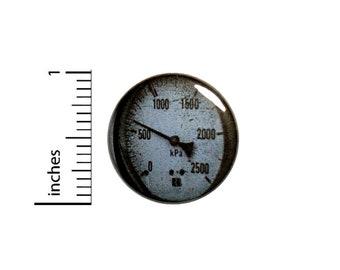 1 Inch Pinback Button Vintage Gauge Backpack Book Bag Pin Dieselpunk Steampunk