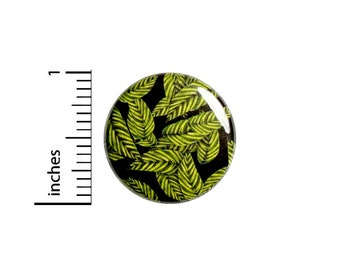"""Green Leaves Pin Button or Fridge Magnet, Leaves Pin, Nature Gift, Birthday Gift, Tropical Leaves Button Pin or Magnet, Gift, 1"""" 88-20"""
