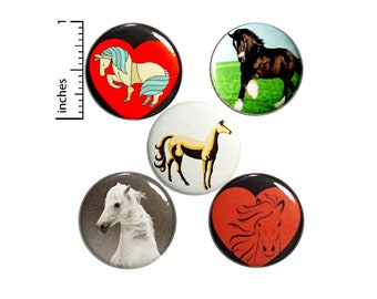 """Horse Pin for Backpack Buttons or Fridge Magnets Cool Horse Gifts Pins Lapel Pin Gift Horses Cute Equestrian Gift Set Party Favor 1"""" P47-4"""