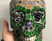 Fantastic Green Glass Sugar Skull