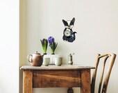 Tabby Cat Wall Decor, Wall Clock, Wall Art, Fancy Cat Art Deco, Kitchen Clock