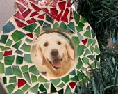 Christmas wreath photo ornament