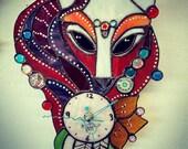 Foxy Fox Dreamcatcher Clock