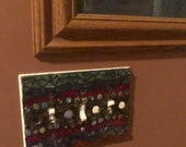 fancy glass mosaic triple light switch cover