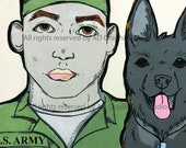 Army Veteran and His Dog...