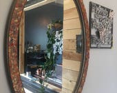 HUGE Brand New Decorative Large Fall Decor, Tall Oval Mosaic Mirror for Wall Art and Accent Home Decor Perfect for Bathroom or Hallway