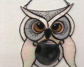 Owl Mirror Inspired by Harry Potter Hedwig stained glass