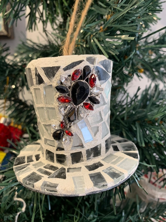 Christmas Top Hat Ornaments.Classy Top Hat Christmas Tree Ornament