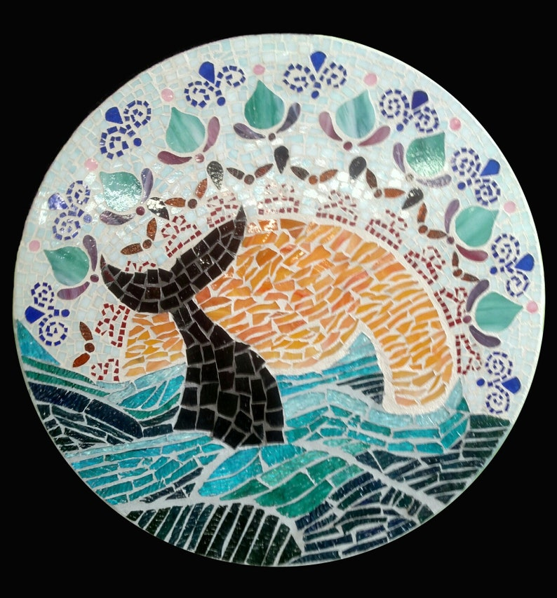 Gorgeous Ocean Mandala Whale of a Tail theme Whale in the image 0