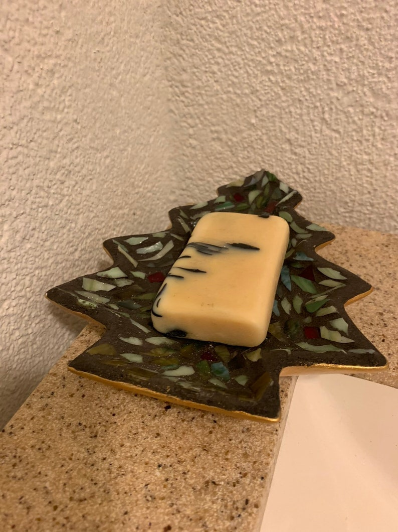 Cute Christmas tree soap dish image 0