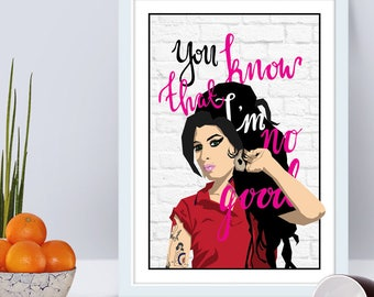 Amy Winehouse - You Know I'm No Good music art print