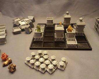 3D Printed Santorini-Inspired Board Game: Dwarven Edition