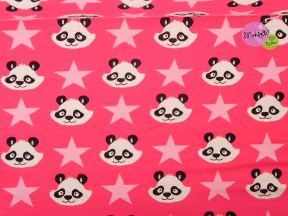 Lenny Sweat BioSweat Sweatshirt Panda pink 50 cm Swafing