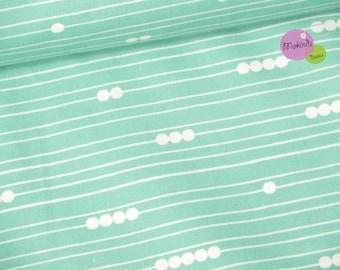 birch organic cotton fabric mod basics turquoise (19.96 EUR / meter)