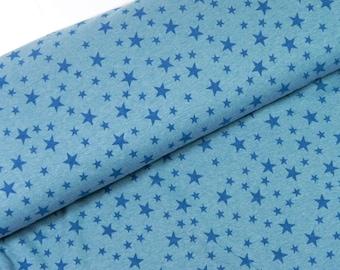 Sweat stars turquoise melange