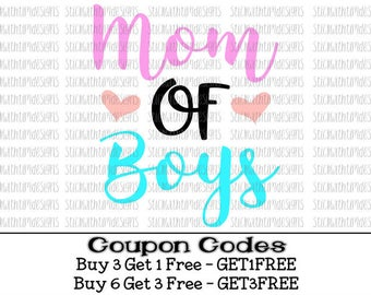 Mom of Boys Svg Mom Svg Mothers Day Svg Cut files PNG Files Svg files for Silhouette Cameo Svg Files for Cricut Mama Momma Mom gift Boy