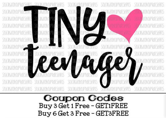 Tiny Teenager Svg Birthday Girl Svg Birthday Svg Png Cut Files Etsy