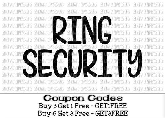 Ring Security Svg Ring Bearer Svg Bride Svg Png Files Cut Etsy