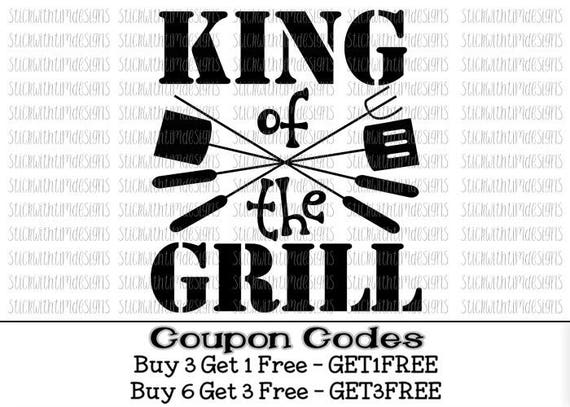 King Of The Grill Svg Father S Day Svg Png Cut Files Dad Etsy