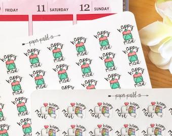 Mail Planner Stickers, Happy Mail, Mailbox