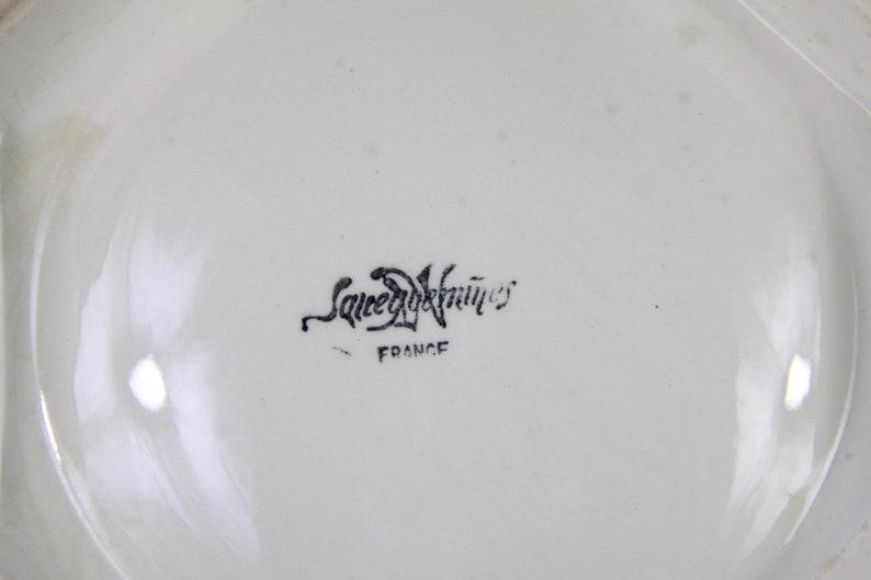 Antique Français Tureen, Bowl, Sarreguemines Perle Français Bowl, Tureen, Shabby Chic Ironstone Earthenware, Stoneware