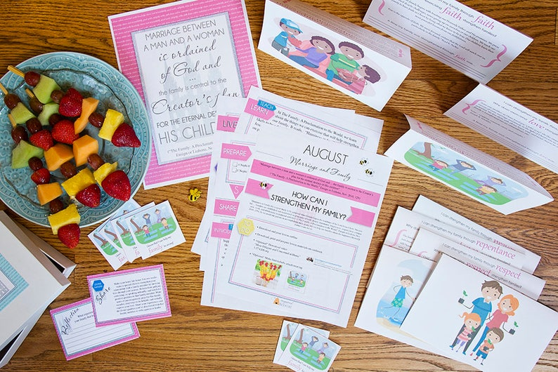 August Yw How Can I Strengthen My Family Lesson Plan Etsy