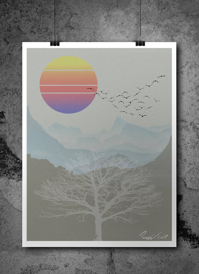 Technicolour Sunset Print