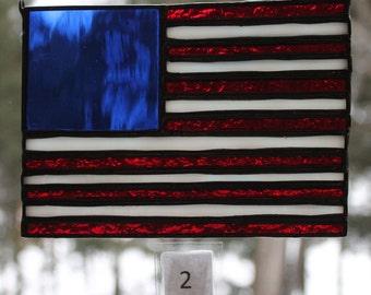 d9de36ab4e6d Stained Glass American Flag Suncatcher