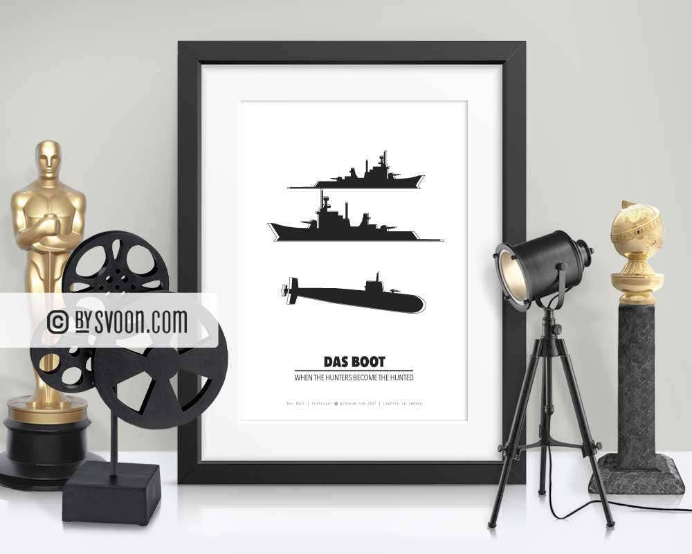 Das Boot Print Submarine Warships WW2 Printable Wall Art